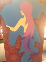 mermaid painting part1 by ArtsyLibrarian