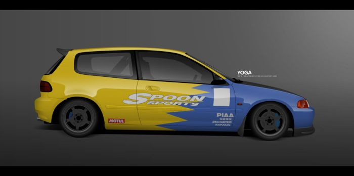 Spoon Sports Civic EG by YogaBudiwCUSTOM