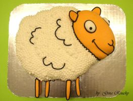 Sheep Cake by ginas-cakes