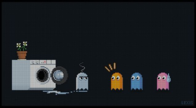 Pacman Ghosts by Lexis-Barant