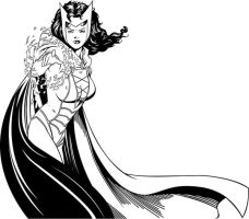 Scarlet Witch inks by rjonesdesign