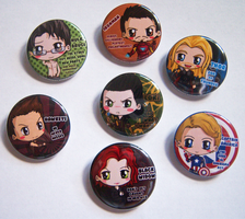 Avengers Button Set by IcyPanther1