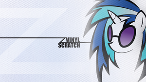 White Vinyl Scratch Wallpaper by SandwichDelta