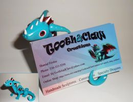 Business Card Holder Dragon by ByToothAndClaw