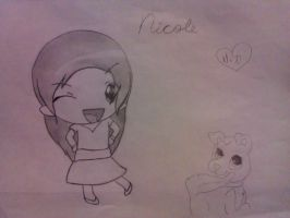 Nicole- Human (chibi) and Dog versions by RIO4ever1