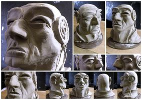 Clay Head - WIP by YoulDesign