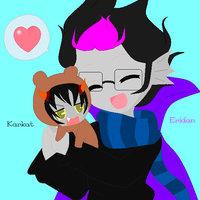 Karkat x Eridan by NativeAmericaHetalia