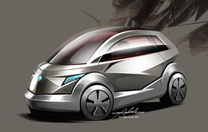 Electric city Car by carlexdesign
