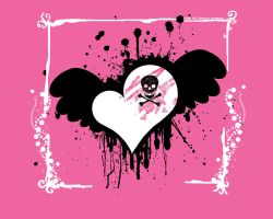 the pink blooded skull. by theSmallprint