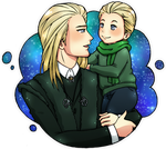 Draco and Lucius Malfoy by KaylaDark