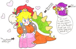 A Princess and a Koopa King by 3-krazy-chiks