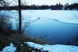 Icy River by qkjosh