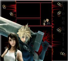 Cloud n Tifa Youtube Layout by Lilliania