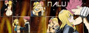 Natsu and Lucy by enchantic-erza
