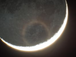 Crescent Moon and Earth Shine by PhotoshopAddict89