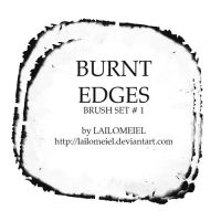 Burnt Edges Brushes by lailomeiel