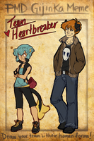 PMDE Team HeartBreaker Gijinka by TheSemiLostWanderer