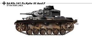 Sd Kfz 141 Pz Kpfw III Ausf F by nicksikh