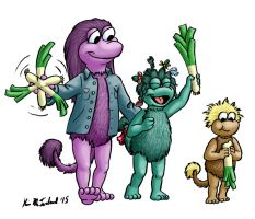 Leeky Fraggles by Negaduck9