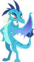 The red-eyed blue dragon lord by Porygon2z