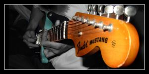 fender mustang guitar 2 by dontbemad
