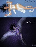 before-after Tombee du ciel by Rafido
