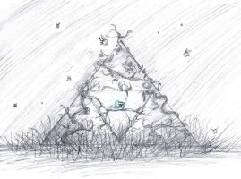 Sketch Request- FrostyFascination- Navi + Triforce by totalexistancefail