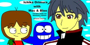Ichika Orimura with Mac and Bloo by ian2x4