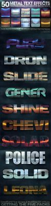 50 Metal Text Effects 3 of 5 by fluctuemos