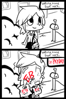 The struggles of working at a game shop by Caramelcat123