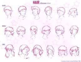 hair reference sheet by Chicoritango