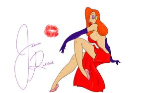 jessica rabbit wall by Kitkatinahat
