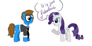 Rarity and Blaine by FinnishGirl97
