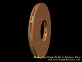 My First 3D Disc Brake Design With 3DS MAX 2008 2 by Fizzle-Knight