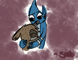 Rigby Would Never Hug Me by mysticakez