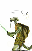 Jedi Lizard Thing WIP (Part 2, redo) by SleepDebt