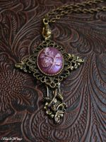 Lavender Cross by BlackWings-jewelry