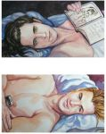 Loki and Thor in Bed by golikethat
