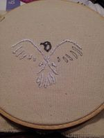 Assassin's Creed 3 - Hood Eagle Embroidery - WIP 2 by deadlanceSteamworks