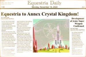 Fallout: Equestria Newspaper (aged) by just42day87