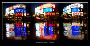 Picadilly Circus Triptych by meteoro-nayade