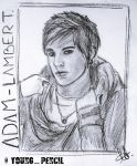 Adam Lambert - FanArt Pencil Portrait by YoungPencil