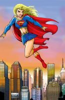 supergirl colour by belgerles