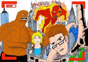 Fantastic Four (old drawing) by Razanul