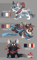 pups adoptable 4 - [2 left] by azzai
