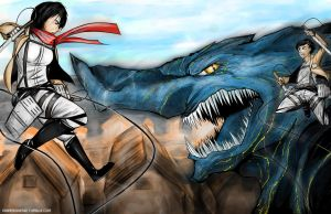 Attack on Kaiju by harrison2142
