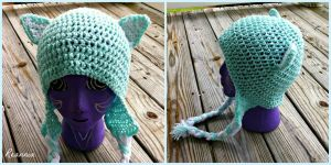 Crochet Mint Cat Hat by Rhiannon-San