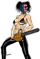 Chainsaw Gal 4 by RedSpider2008
