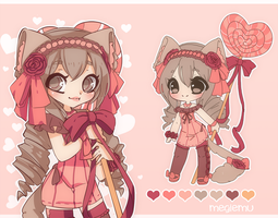 Adoptable Auction: Lolipop Kitty [Closed] by megiemu