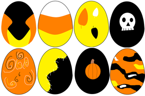 MLP: FIM Halloween Eggs Adopt Batch 1 (OPEN) by Nikki148